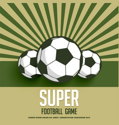 retro style football game background vector image