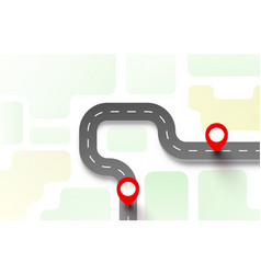 road trip taxi pave route location vector image