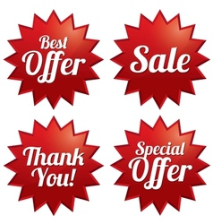 Sale best offer special offer thank you tags vector image