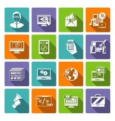 Seo Internet Marketing Flat Icon vector
