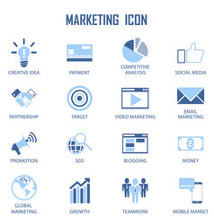 Set business marketing strategy payment vector