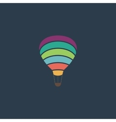 Sky balloon flat icon vector image