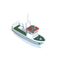 Small vessel on white vector