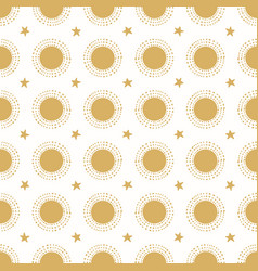 Suns and stars gold grid vector