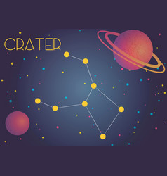 the constellation crater vector image