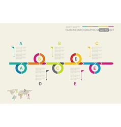 Time Line Design Can be used for workflow layout vector