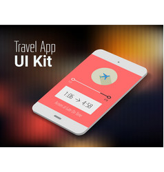 Travel mobile app UI smartphone mockup vector image