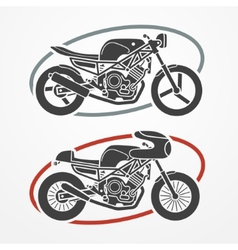 Two motorcycles vector image