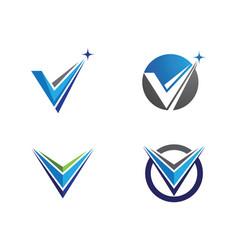 v letter logo template design vector image