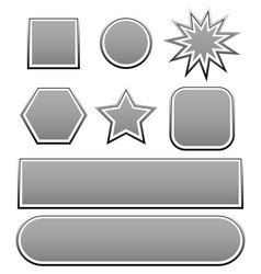 Variety of shapes in grey vector