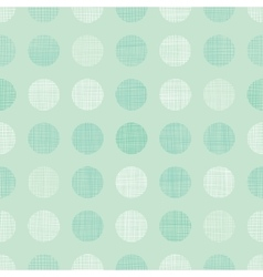 Vintage Mint Green Dots Circles Seamless vector