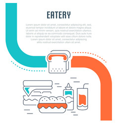 Website banner and landing page eatery vector