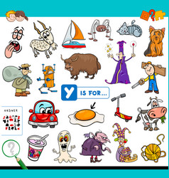Y is for educational game for children vector