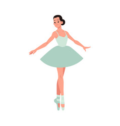Young beautiful ballerina vector