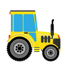 agricultural tractor vector image