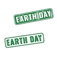 Earth Day grunge rubber stamps isolated on white vector image