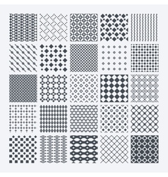 Geometric monochrome pattern set vector image