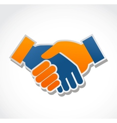 handshake abstract vector image vector image