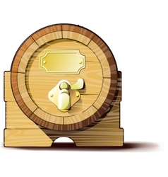 Old wooden barrels vector image vector image