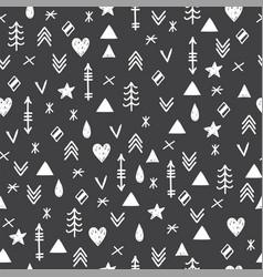 aztec abstract geometric art print tribal hand vector image