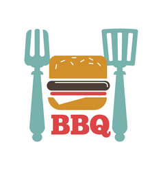 barbecue or grill party icon of bbq for vector image