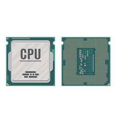 computer processor isolated on white vector image vector image