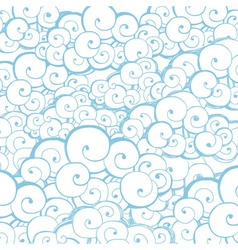 Decorative background with clouds or waves vector