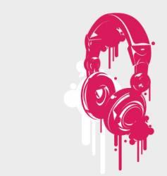 dj headphones spray style vector image vector image