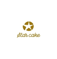 isolated logo Colorful cupcake sign Cake vector image