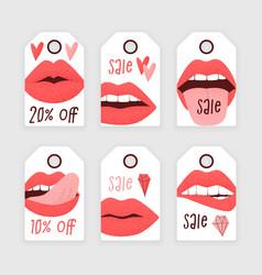 lipstick sale ad vector image