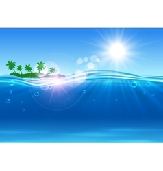 Summer ocean paradise travel poster vector image