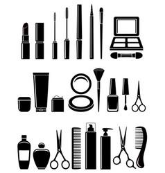 beauty cosmetic set vector image