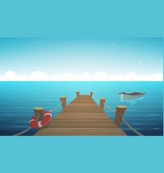 Cartoon pier vector