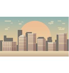 city skyline silhouette vector image