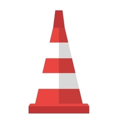 Road cone with stripes attention symbol vector image vector image