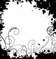 swirl frame vector image vector image