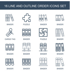 16 order icons vector image
