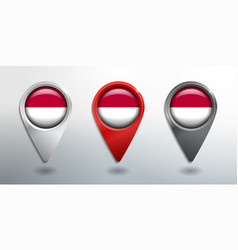 3d pointer tag and location marker with round vector