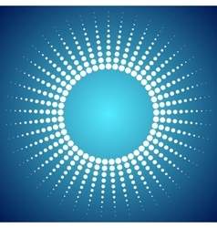 Abstract bright dotted sun background vector