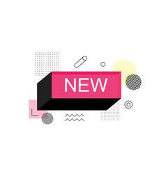 abstract new speech bubble box label vector image