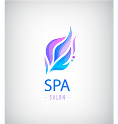 abstract wavy logo spa salon nature icon vector image