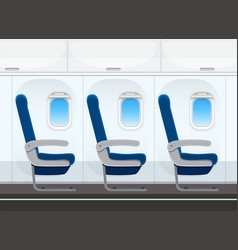 airplane seat in the cabin vector image
