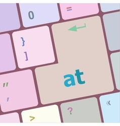 at button on computer keyboard key vector image