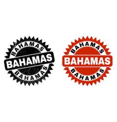 Bahamas black rosette watermark with distress vector