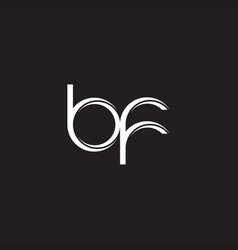 Bf initial letter split lowercase logo modern vector