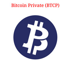 Bitcoin private btcp logo vector