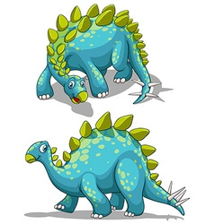 Blue dinosaure with spikes tail vector image