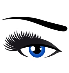 Blue eye with long eyelashes vector
