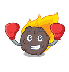 Boxing meteorite character cartoon style vector