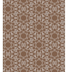 Brown lace seamless pattern vector